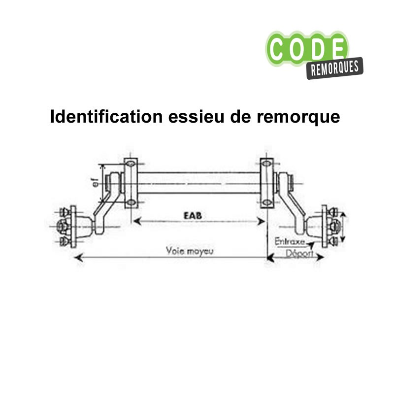 good new high detailing Essieu 750kg EAB 964 Voie 1234 mm