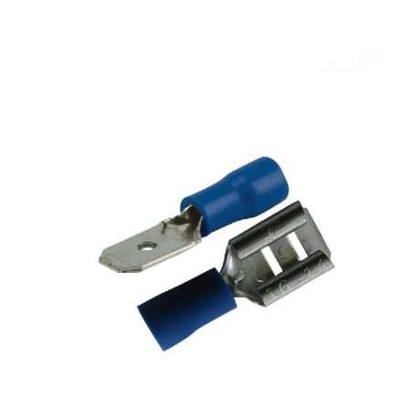 Assortiment 22 cosses plates Mâle/Femelle 6,3mm