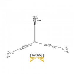Faisceau Aspock 6,10m avec prise 13 broches