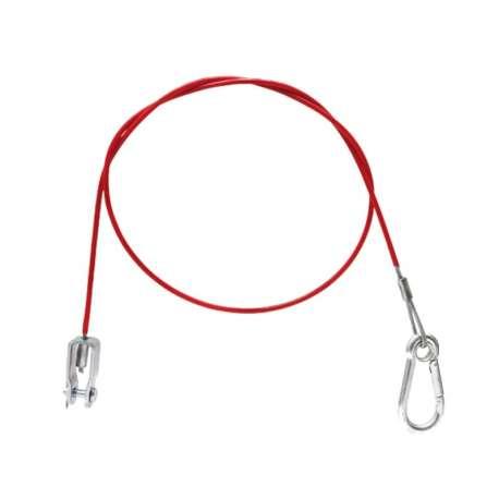 Câble de rupture env 1000mm mousqueton + fourche