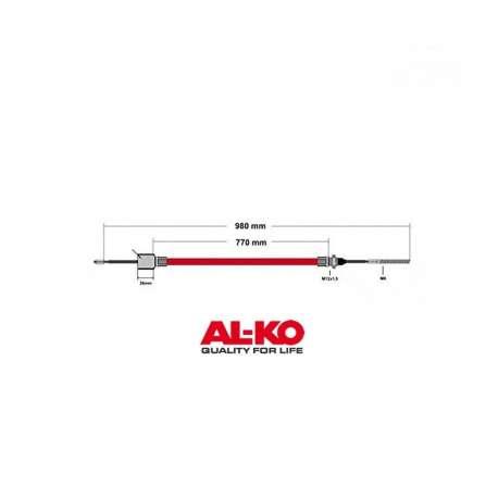 Câble de frein ALKO 770/980mm cloche 26mm
