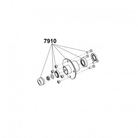 Moyeu complet Knott Autoflex 4TR115 500kg