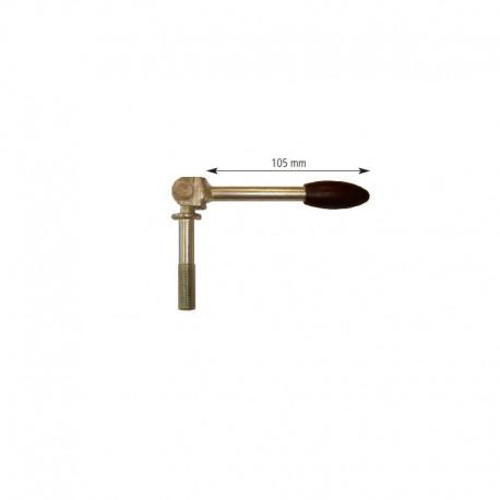 Poignée de serrage avec poignée pivotante pour collier D.60mm