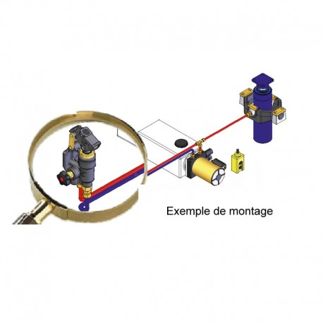 Pompe en ligne simple effet avec levier