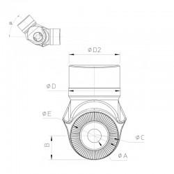 Noix seul TZ RTN diamètre 76,5mm