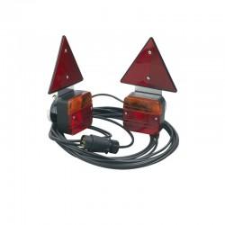 Kit éclairage magnétique + triangles, 7,50m de câble