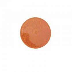 Catadioptre Orange rond autocollant Ajba 60mm