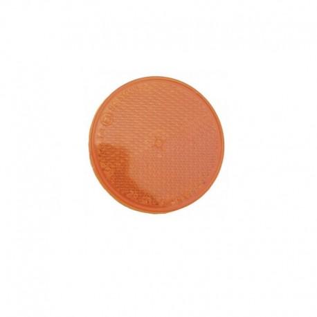 Catadioptre orange rond autocollant Ajba 60mm