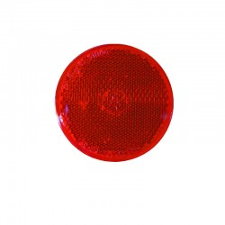 Catadioptre Rouge rond autocollant Ajba 60mm