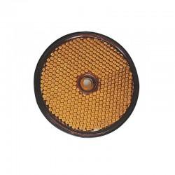 Catadioptre orange autocollant ou à visser Ø 60mm