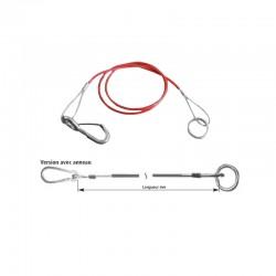Câble de rupture AL-KO 1900mm mousqueton + anneau