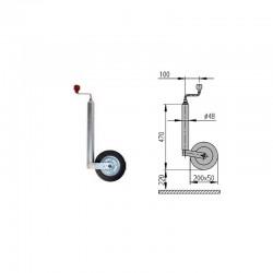 Roue Jockey AL-KO Compact diamètre 48mm Galet acier