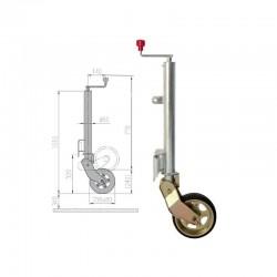 Roue Jockey automatique AL-KO diamètre 60mm longue