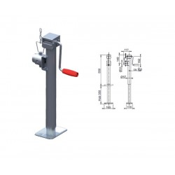 Béquille AL-KO Ø57mm charge 1000kg basculable
