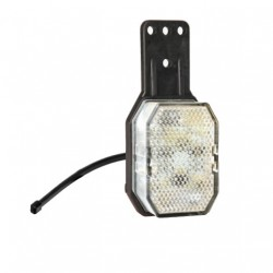 Feu de gabarit LED Aspöck Flexipoint Blanc avec support Gauche