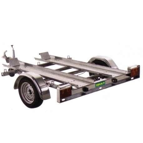 Remorque porte-quad avec roues 10 pouces