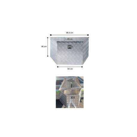 Coffre de flèche aluminium 865mm