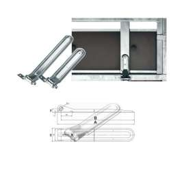 Charnière complète 376 x 56 mm pour remorque