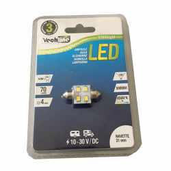 Ampoule navette 12V 4 LEDS