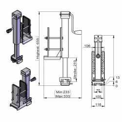Collier d'adaptation pour flèche et timon double essieux