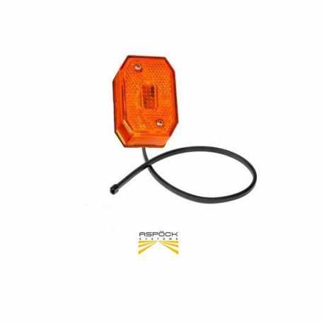 Feu de position Flexipoint orange Aspöck câble 0.80m