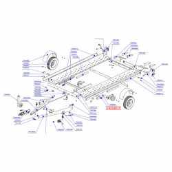 Traverse support garde-boue PV13 - PVB130