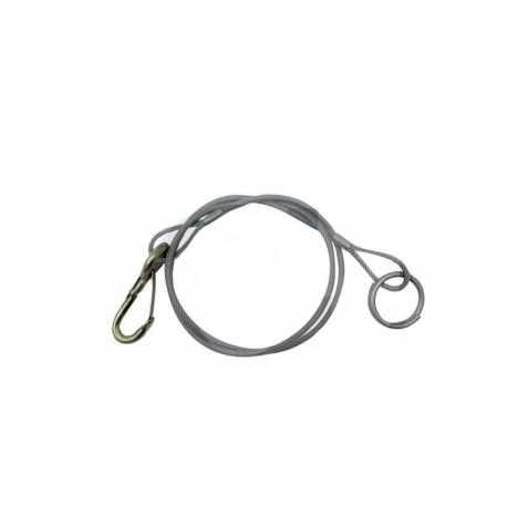 Câble de rupture 1800mm mousqueton + ANNEAU
