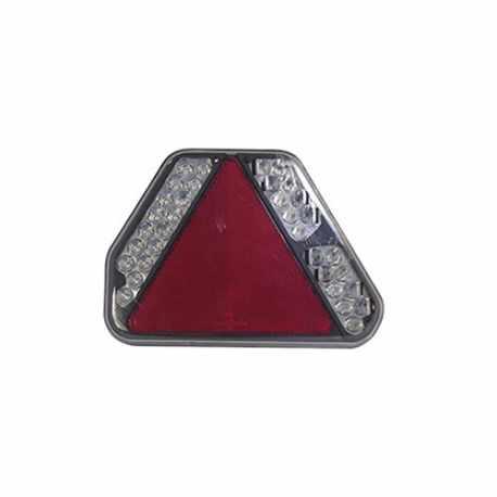 Feu compact Droit 6 fonctions LED 12v