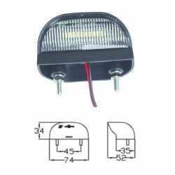 Eclaireur de plaque 5 LEDs DAFA