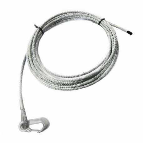 Câble de treuil 8m, 5mm avec crochet