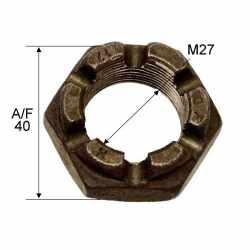 Écrou de serrage crénelé M27x1.5