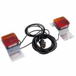 Kit éclairage sur support avec câble 7,50m, entre feux 2,50m