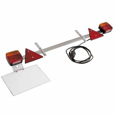Rampe d'éclairage agricole 1,60m, câble 7,50 m