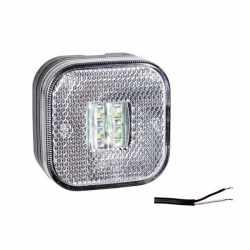 Feu de position LED Blanc 62x62x27 mm