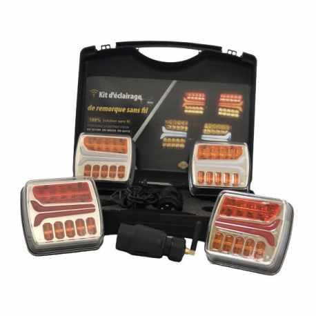 Kit d'éclairage LED magnétique 4 feux