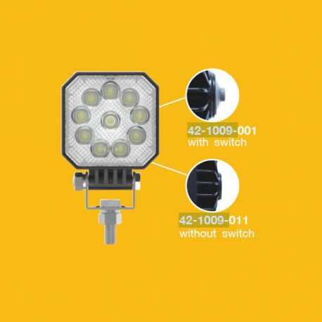 Phare de travail / recul LED 10W 1000 lumens avec interrupteur